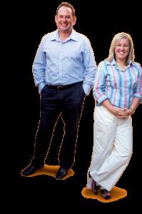Principals Alison Sarginson and Mark Heslop